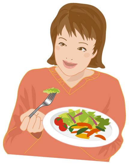 体質や体調などに合わせた食事を食べる