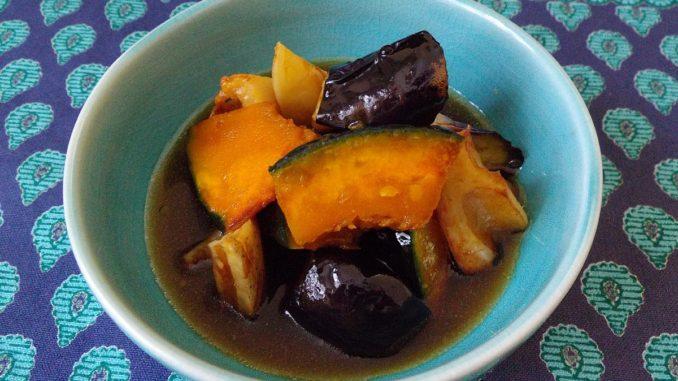 むくみにおすすめの薬膳レシピ 『かぼちゃとなすの煮びたし』