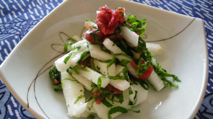 疲労回復のための薬膳レシピ 『山芋の梅しそポン酢』