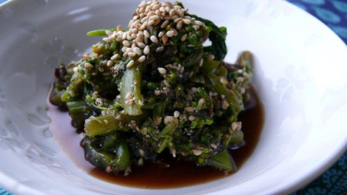 デトックスにおすすめの薬膳レシピ 『菜の花の中華風ゴマ和え』