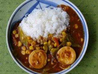 アンチエイジング薬膳レシピ 『キャベツとコーンのタマゴカレー』