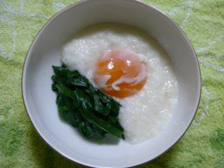 疲労回復・滋養強壮におすすめの薬膳レシピ 『長芋とニラの温泉卵かけ』